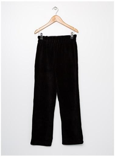 Limon Company Maxygirl D2 Pamuk Flare Fitilli Kız Çocuk Pantolon Siyah